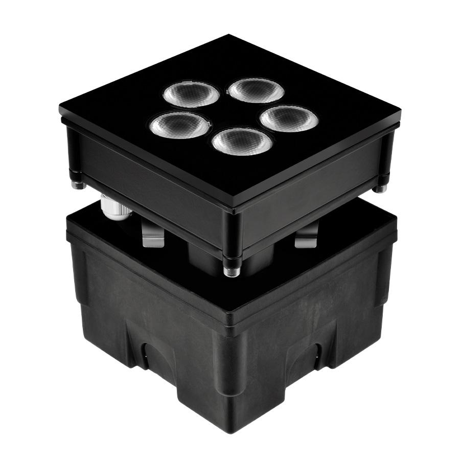 205001 HYDROFLOOR VETRO MEDIUM SQUARE LED 8W