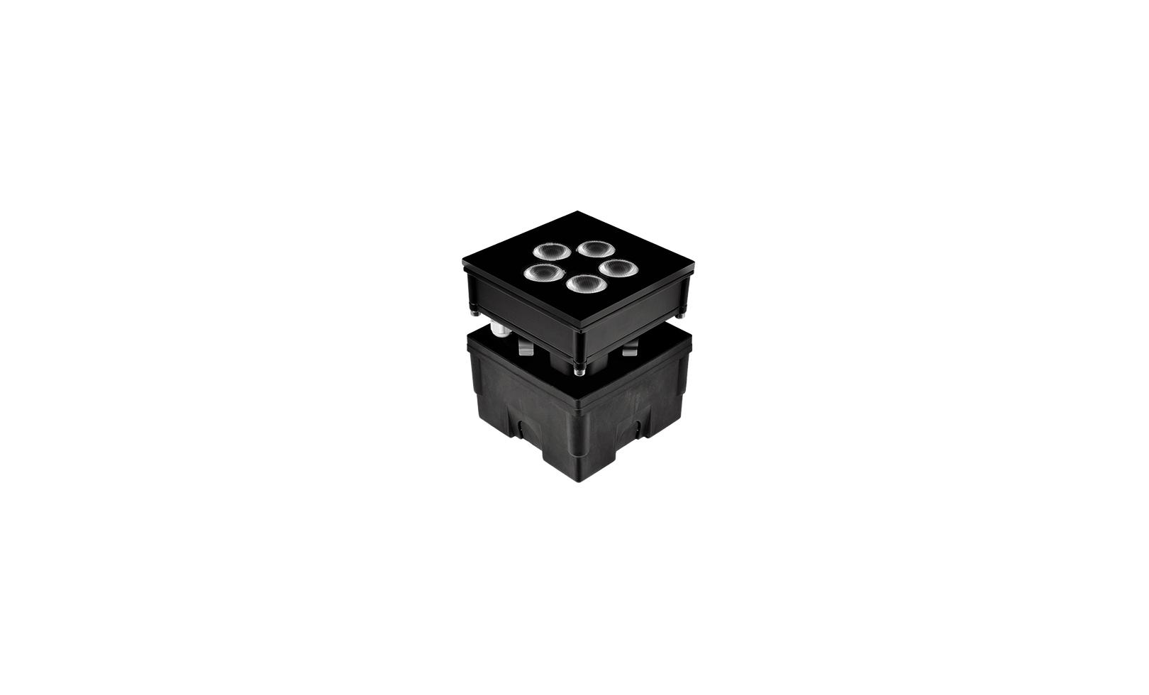 205001 HYDROFLOOR VETRO MEDIUM SQUARE LED 8W 2