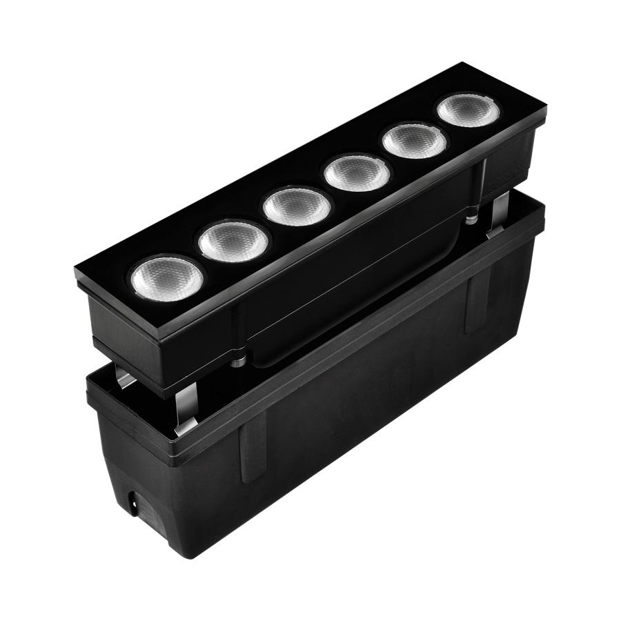 205001 HYDROFLOOR VETRO MEDIUM SQUARE LED 8W 1