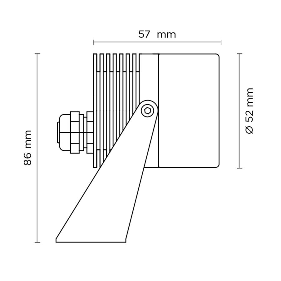 Scheda tecnica 301001 SCUBA MICRO 1W – SURFACE MOUNTED
