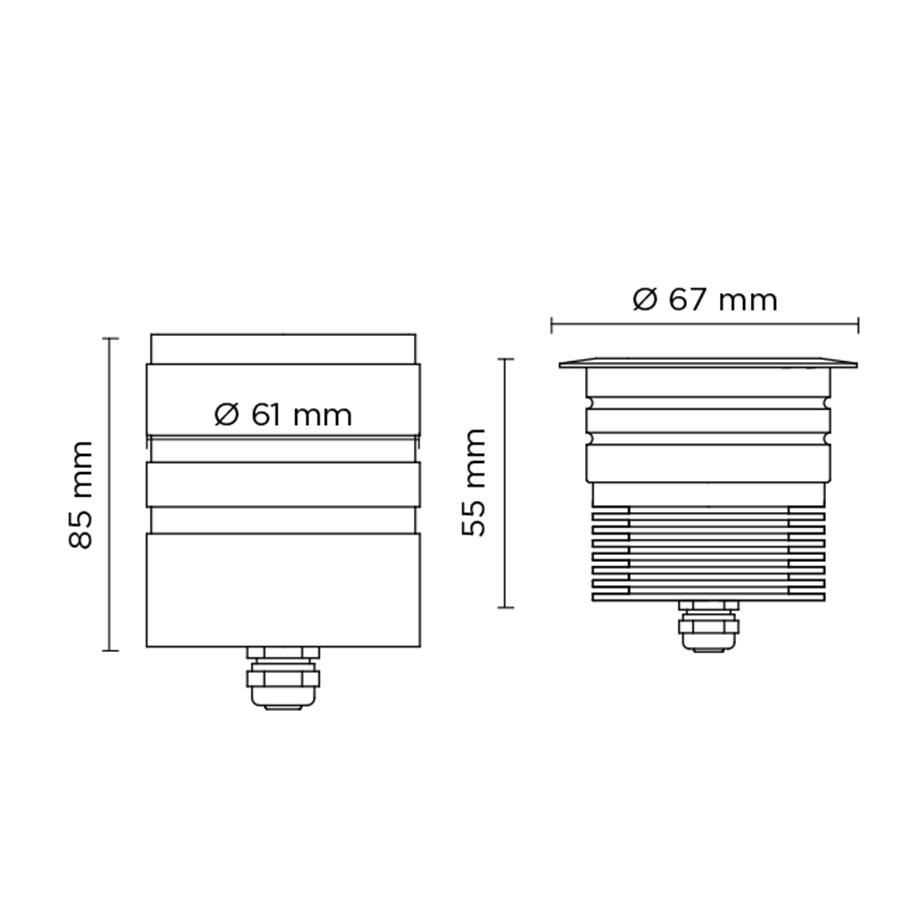 Scheda tecnica 301002 SCUBA MICRO 1W – RECESS
