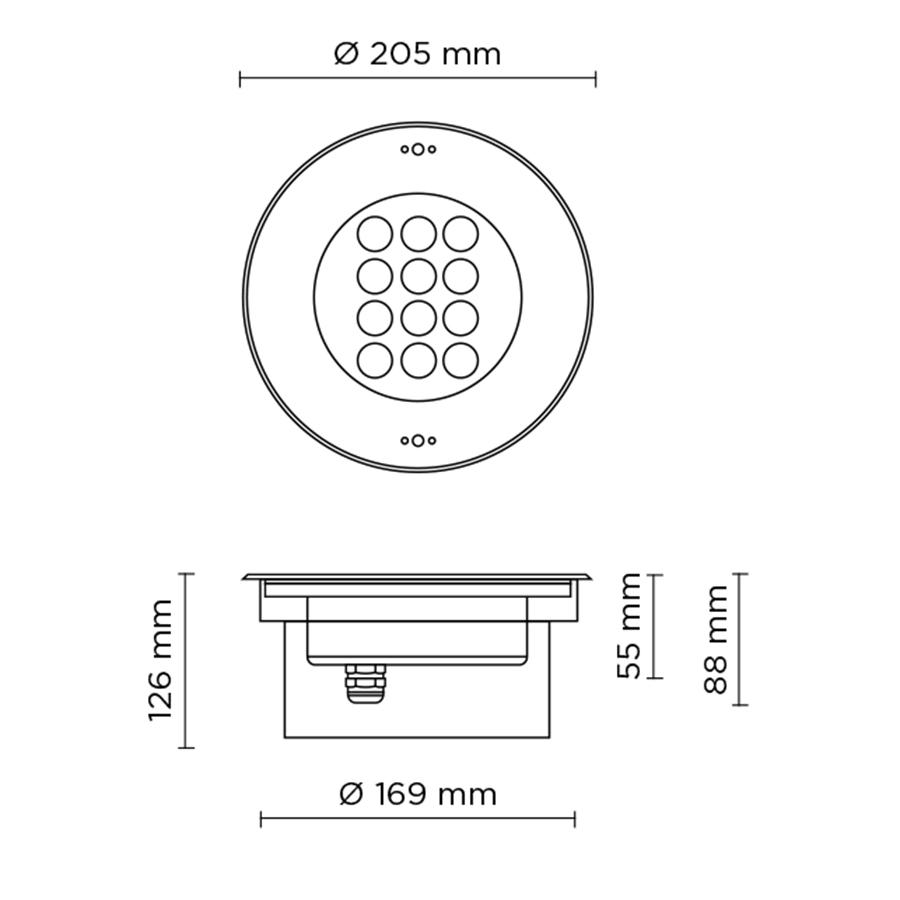 Scheda tecnica 303002 POOL MAXI LED 24W