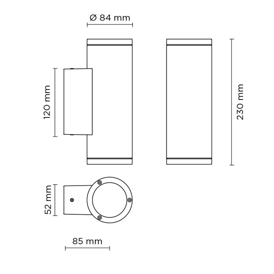 Scheda tecnica 401001L TECH MINI 02 ROUND GU10