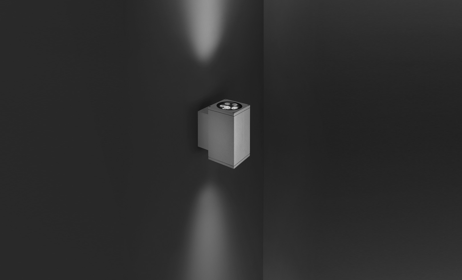 401006 TECH MEDIUM 02 SQUARE LED 2x8W 1
