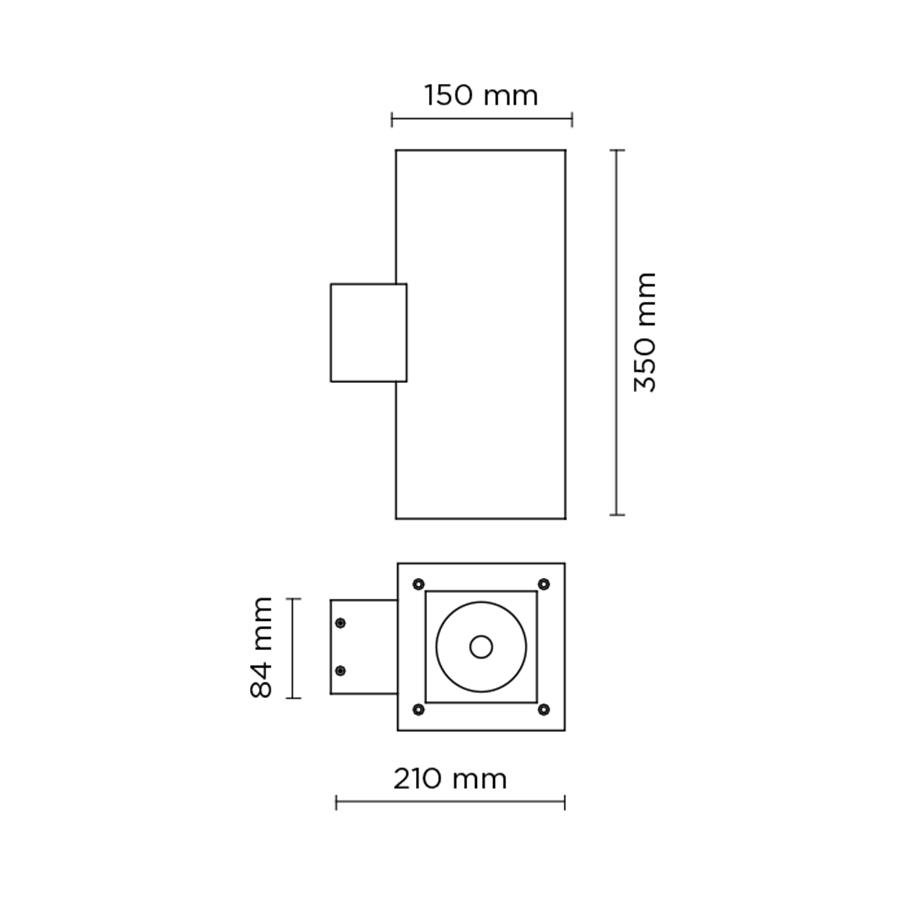 Scheda tecnica 401011 TECH MAXI 02 SQUARE LED 2x39W