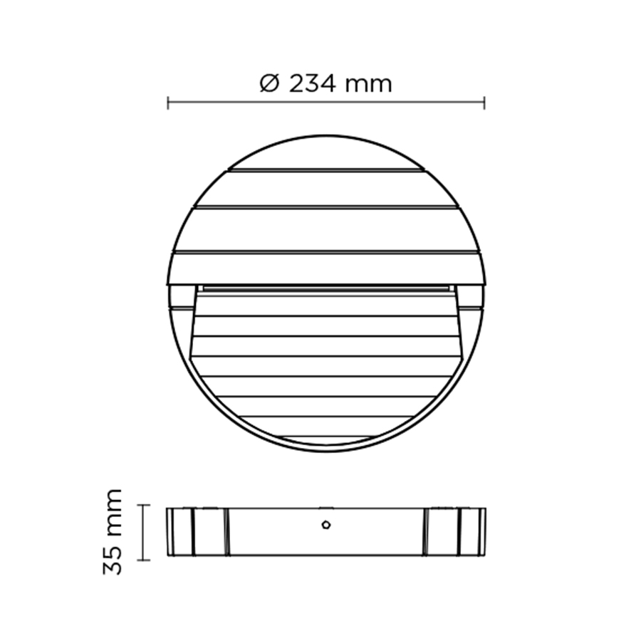 Scheda tecnica 401603 SURF MEDIUM ROUND LED 8W