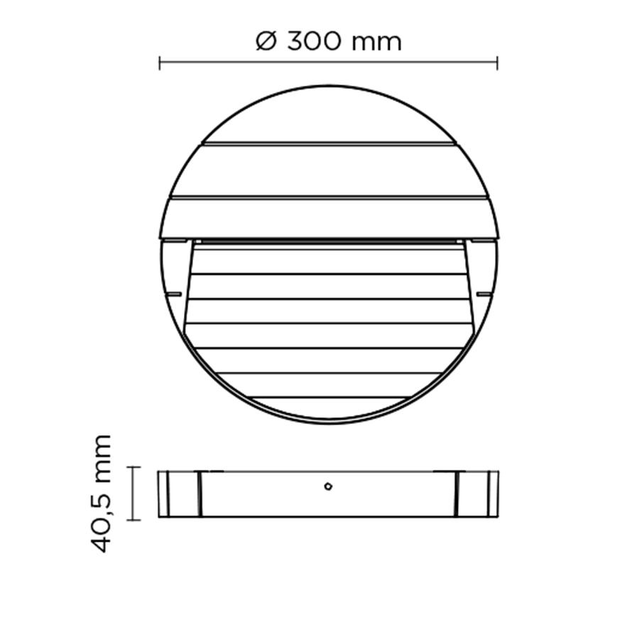 Scheda tecnica 401605 SURF MAXI ROUND LED 14W