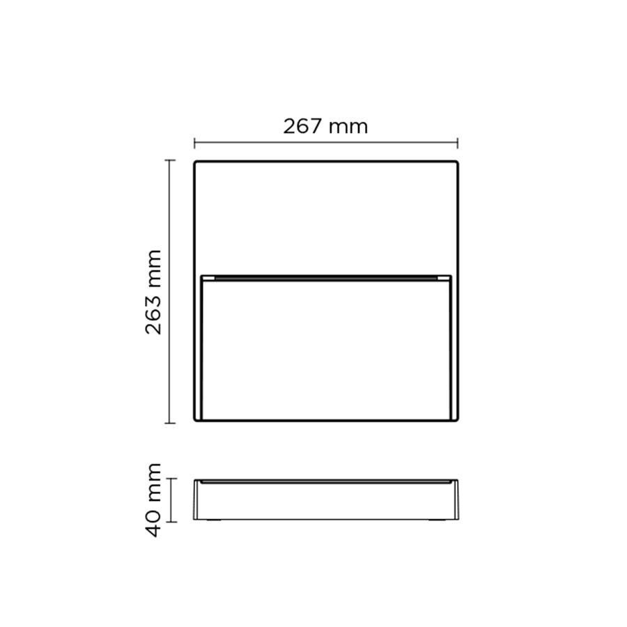 Scheda tecnica 401606 SURF MAXI SQUARE LED 14W
