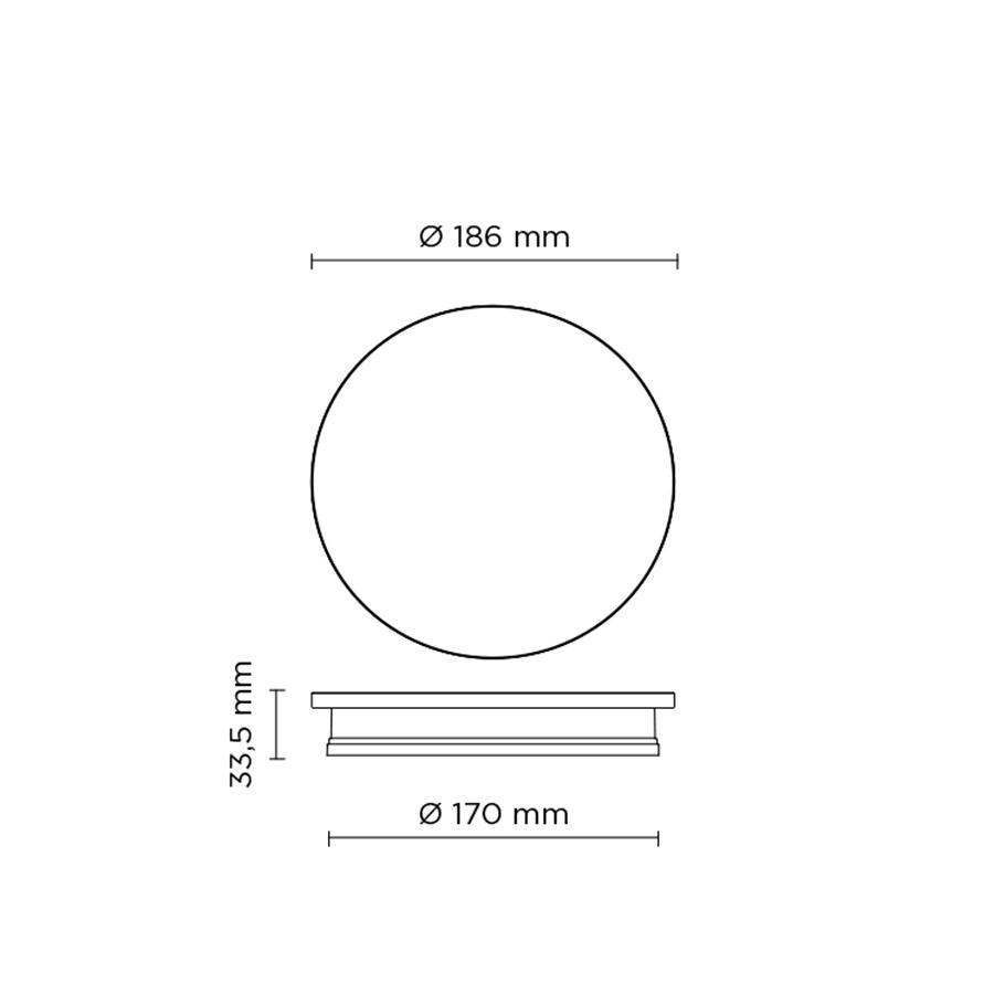 Scheda tecnica 401701 ECLIPSE MINI ROUND LED 9W