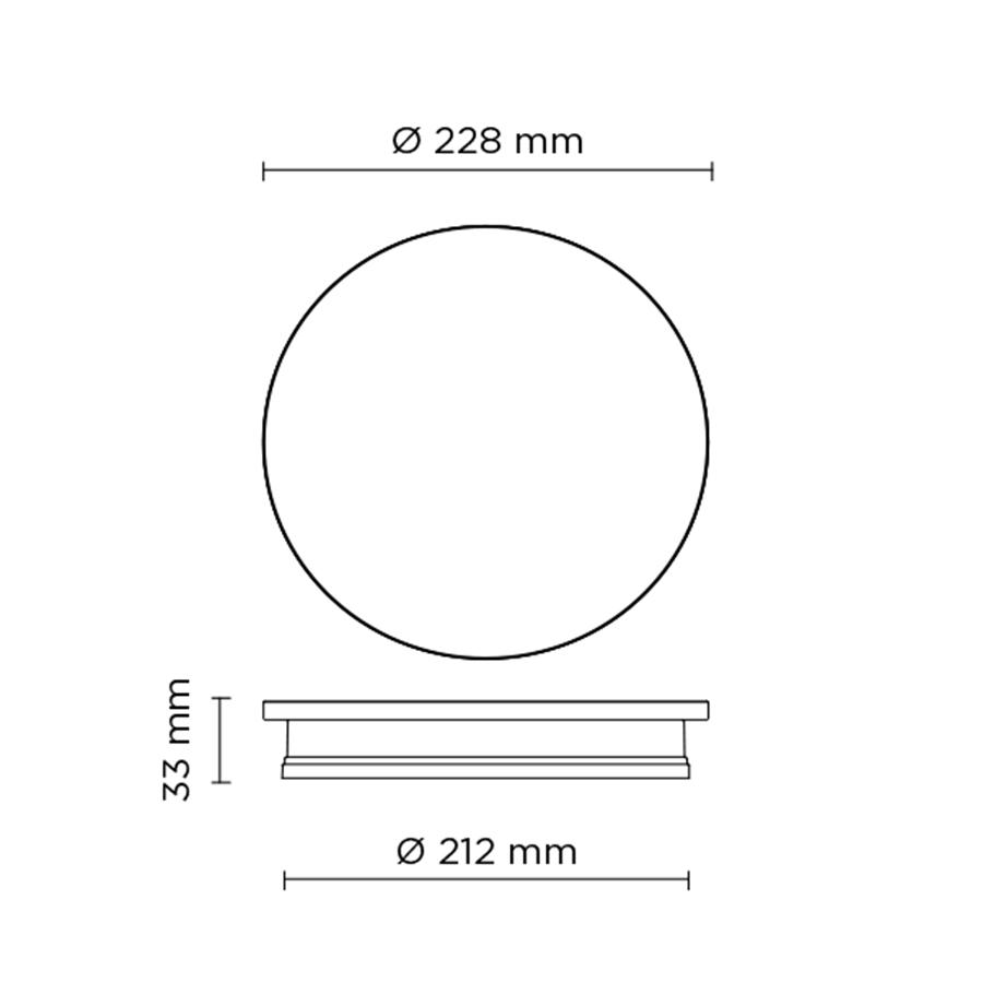 Scheda tecnica 401705 ECLIPSE MEDIUM ROUND LED 12W