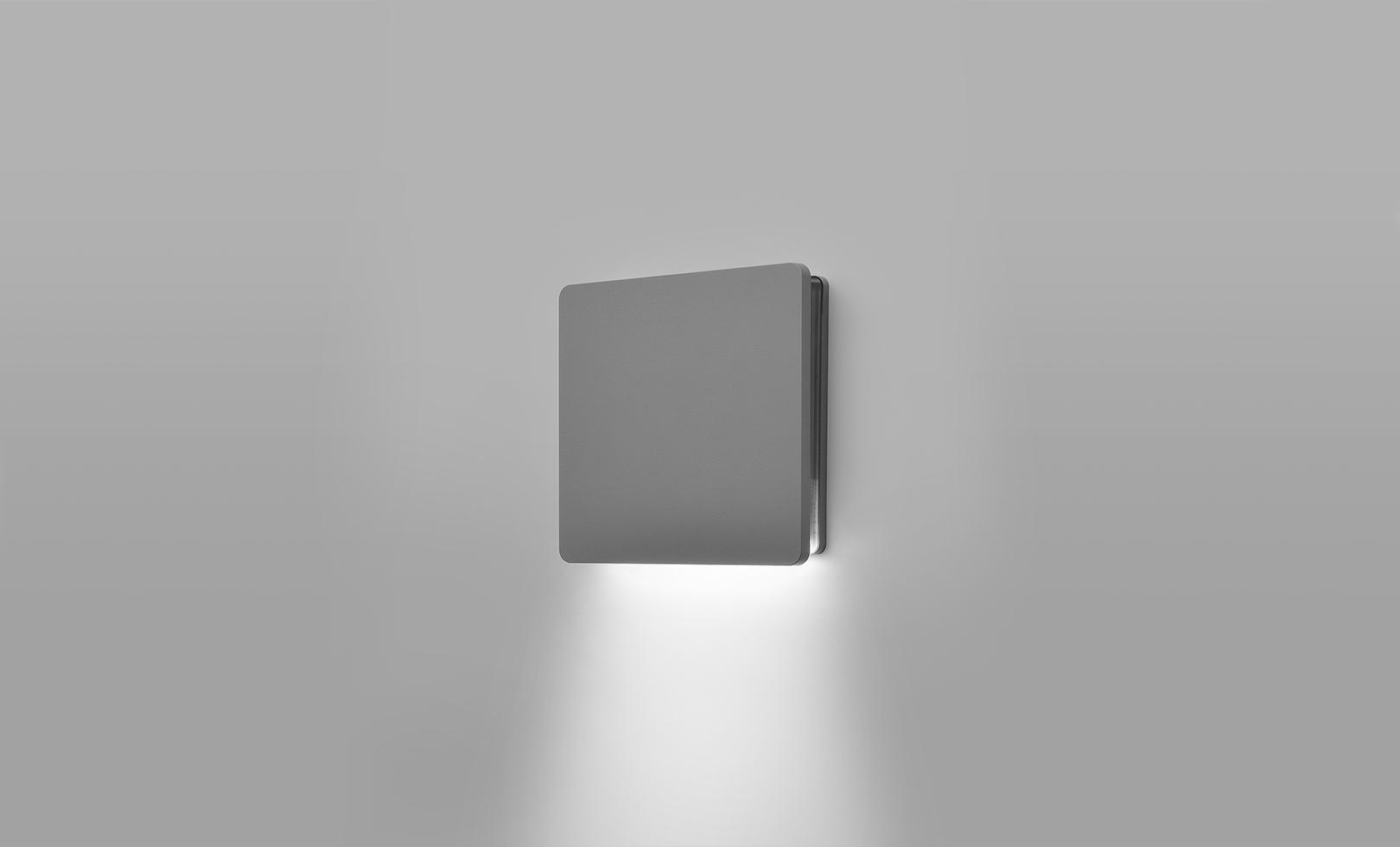401707 ECLIPSE MEDIUM SQUARE 01 LED 10W 1