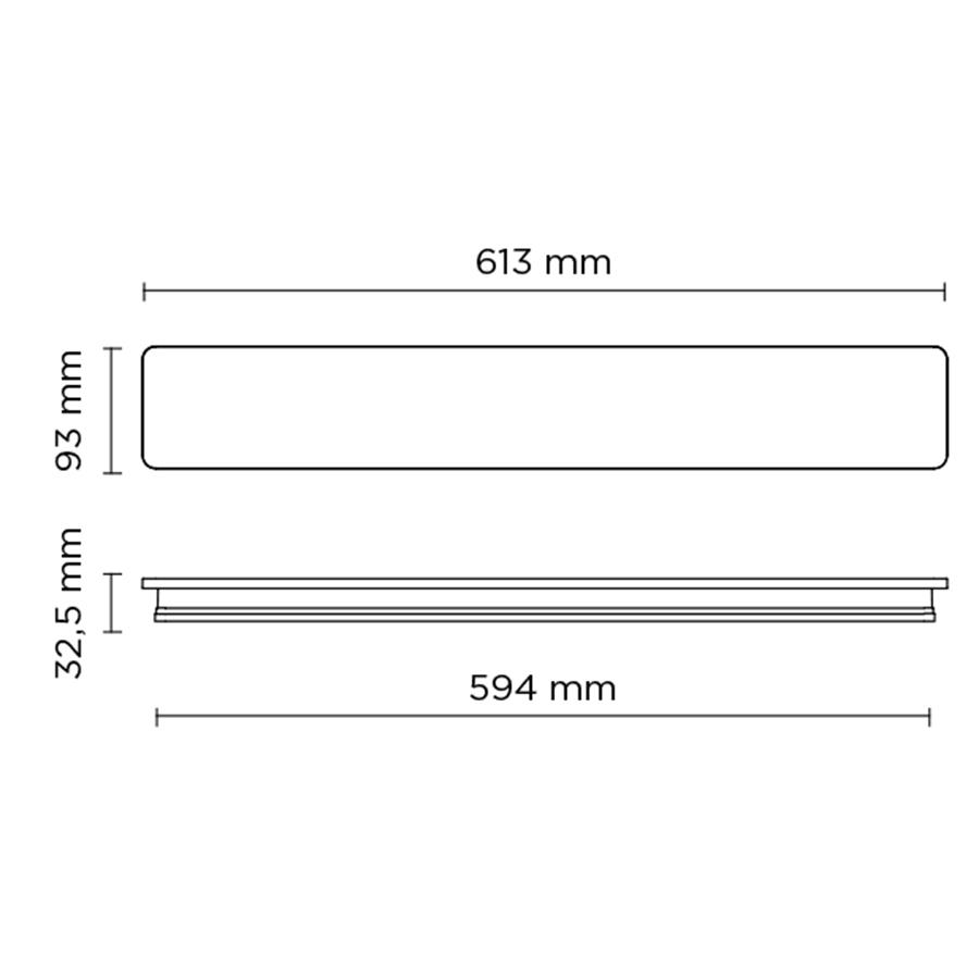 Scheda tecnica 401710 ECLIPSE LINEAR 600 LED 24W
