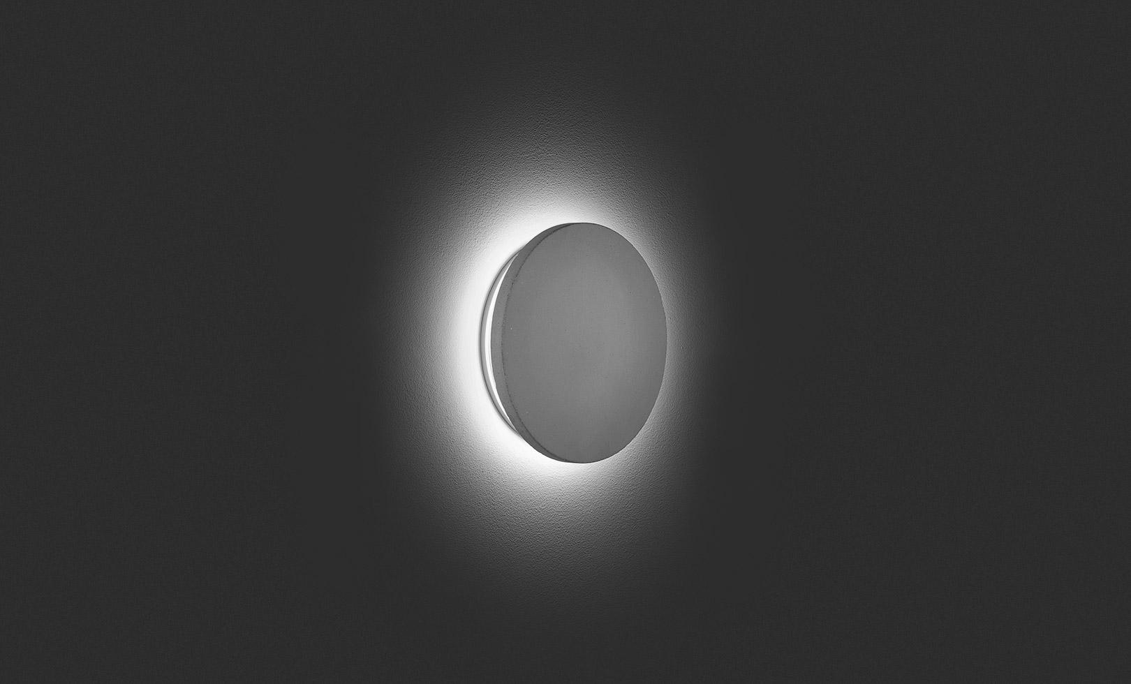 401711 ECLIPSE MEDIUM ROUND CONCRETE LED 12W 1