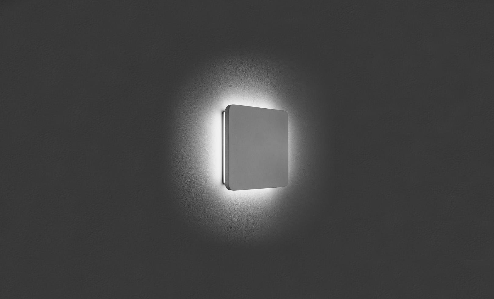 401712 ECLIPSE MEDIUM SQUARE CONCRETE LED 14W 1