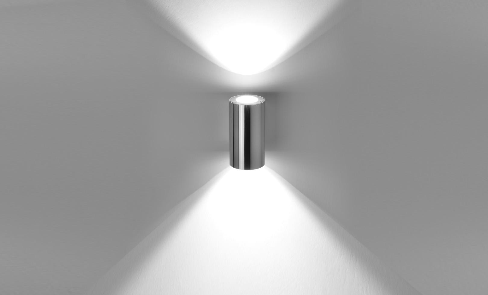 401902 TECH MINI STEEL ROUND 02 LED 2x5W 1