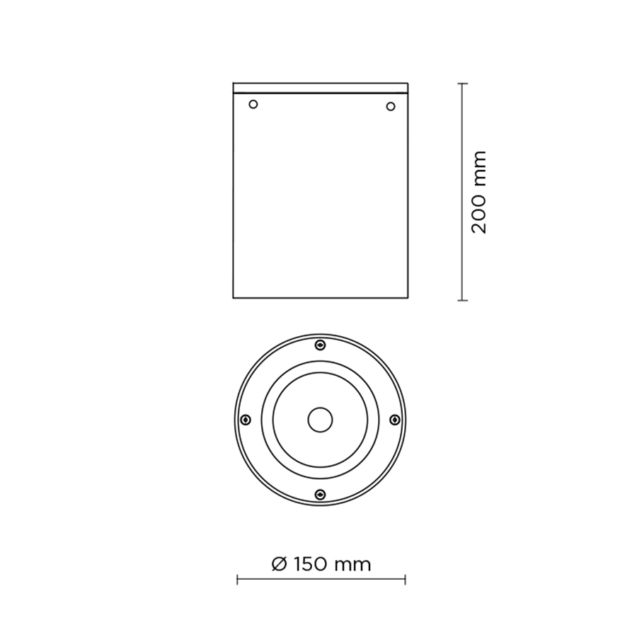 Scheda tecnica 706005 TECH MEDIUM 03 ROUND LED 26W