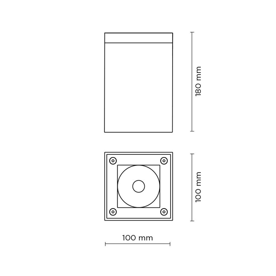Scheda tecnica 706006 TECH MINI 03 SQUARE LED 13W