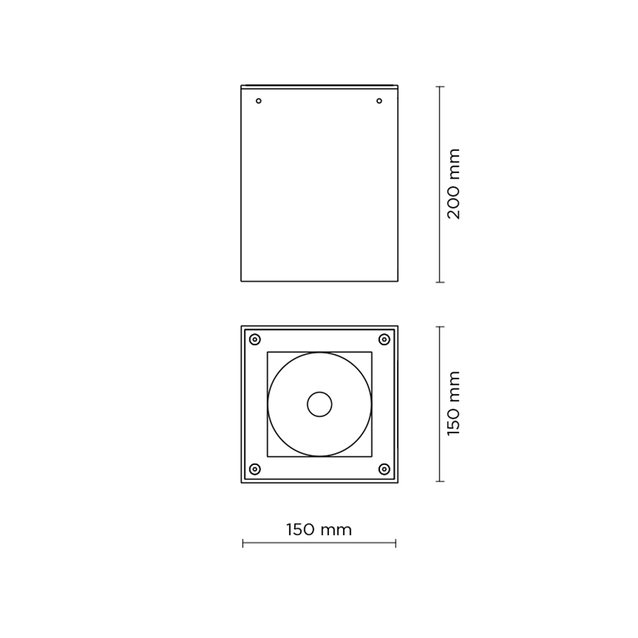 Scheda tecnica 706007 TECH MEDIUM  03 SQUARE LED 26W