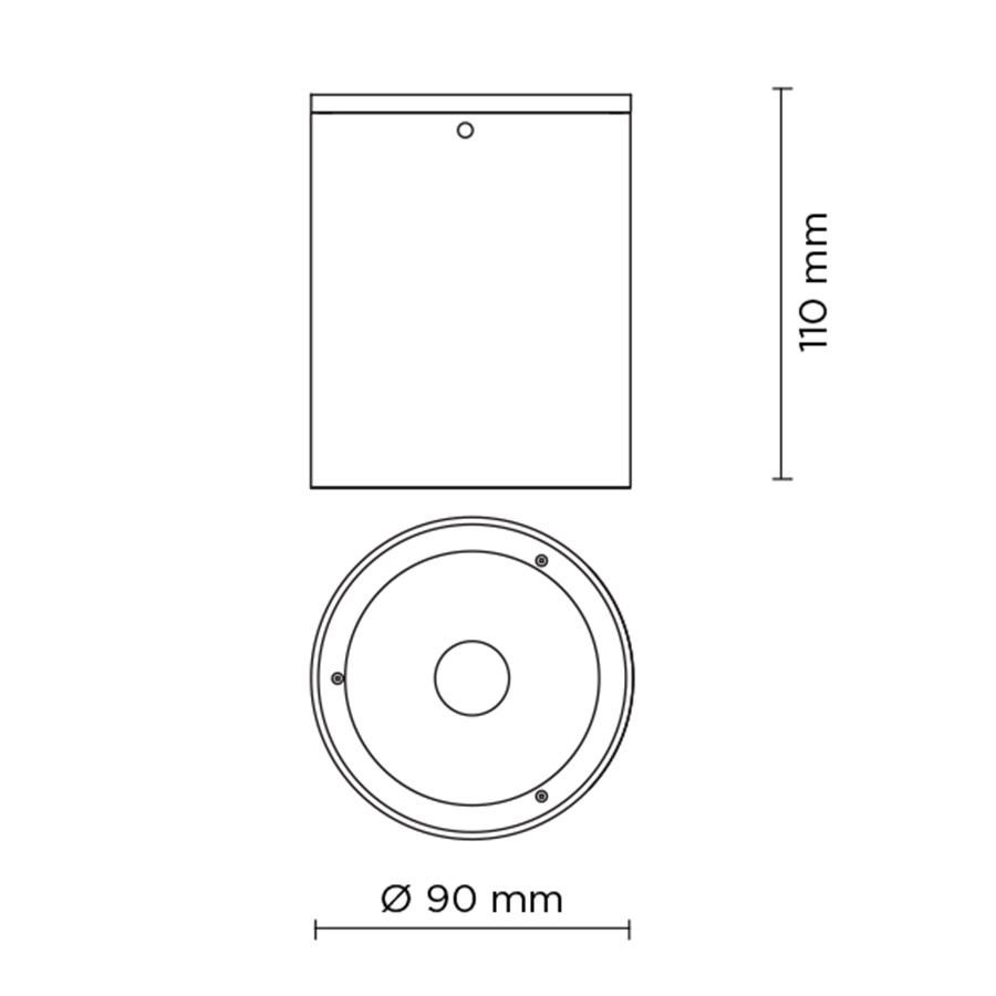 Scheda tecnica 706008 TECH MINI COMPACT 03 ROUND LED 9W