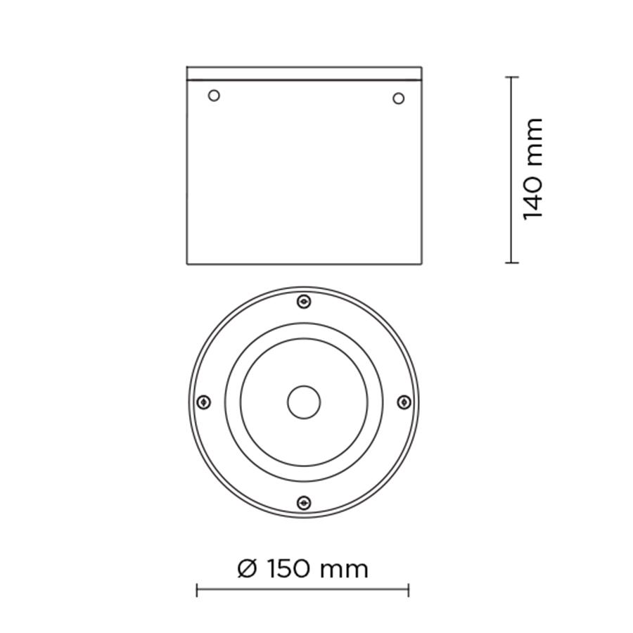 Scheda tecnica 706009 TECH MEDIUM COMPACT 03 ROUND LED 20W