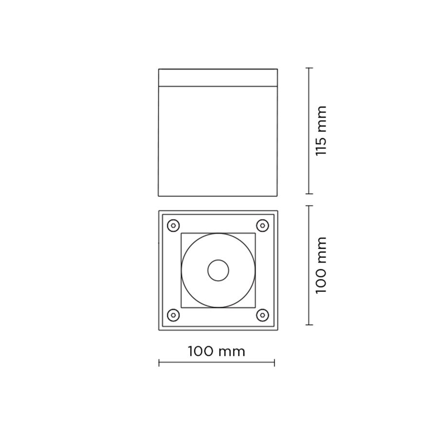 Scheda tecnica 706010 TECH MINI COMPACT 03 SQUARE LED 9W