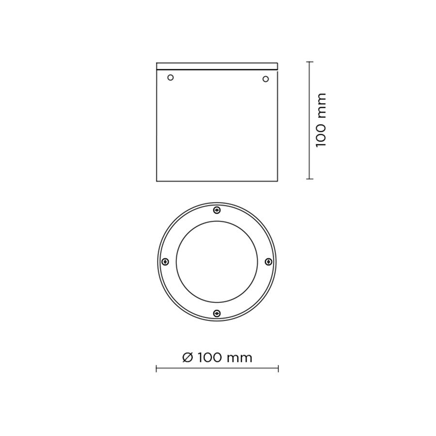 Scheda tecnica 707001 TECH MINI STEEL ROUND 03 LED 5W