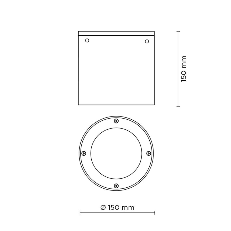 Scheda tecnica 707002 TECH MEDIUM STEEL ROUND 03 LED 12W