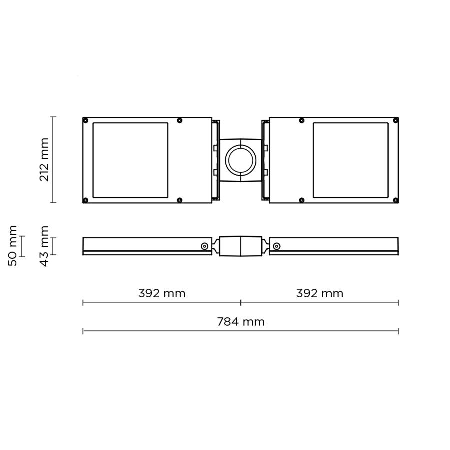 Scheda tecnica 803003 DOUBLE BOOK POLE-TOP MAXI LED 2x18W –> 2x36W