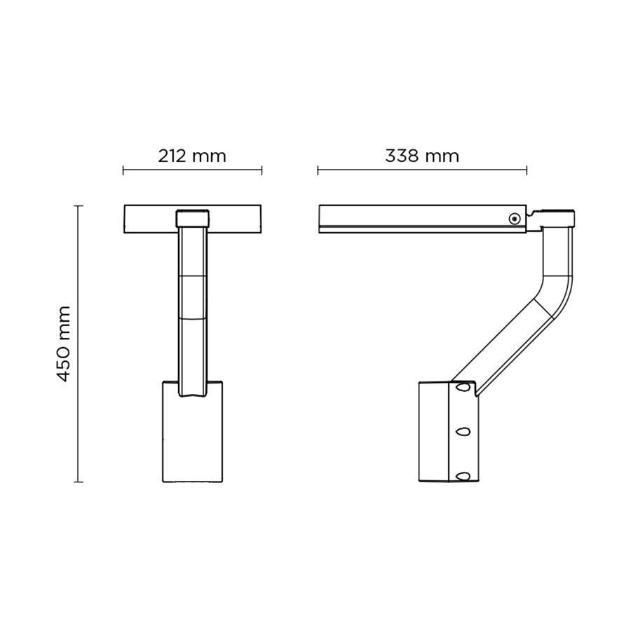 Scheda tecnica 803005 BOOK ARM POLE-TOP MAXI LED 18 -> 36W