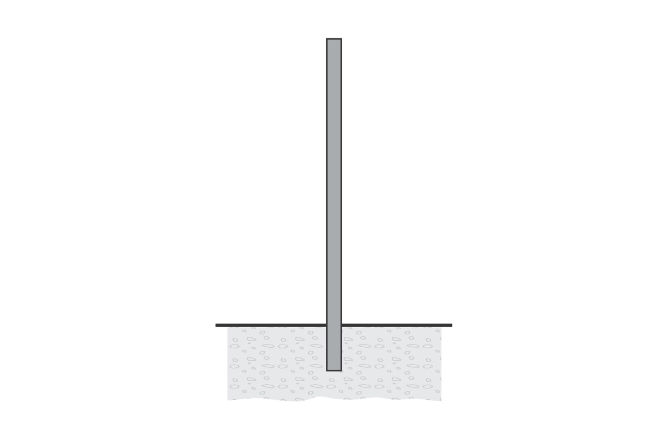 809905 CYLINDRICAL POLE 4 METERS  WITH BASE-PLATE 4