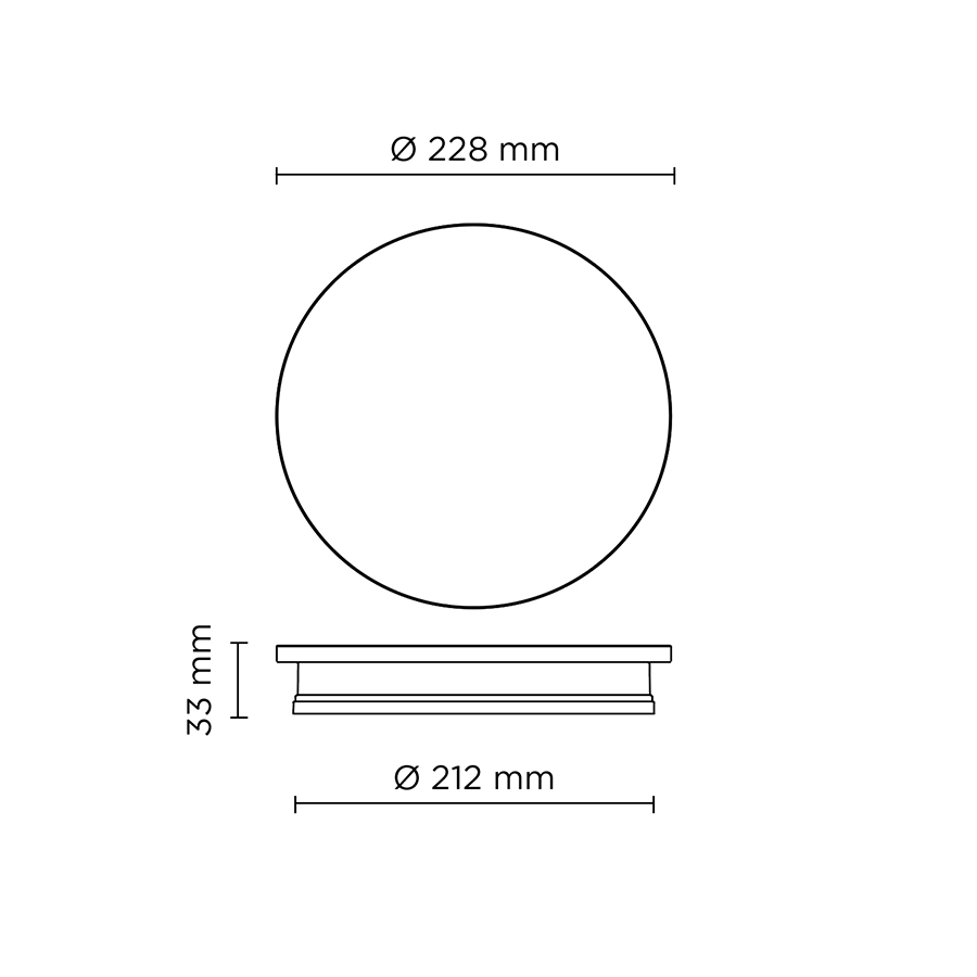 Scheda tecnica 401711 ECLIPSE MEDIUM ROUND CONCRETE LED 12W