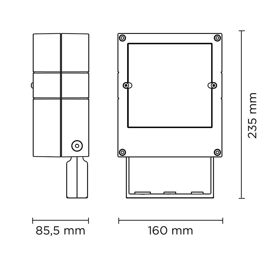 Scheda tecnica 101006RGBW CASE MEDIUM DMX RGBW